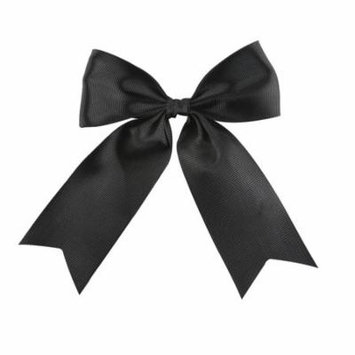 OFFRAY ACCESSORY BLACK LARGE GROSGRAIN BOW WITH TAILS