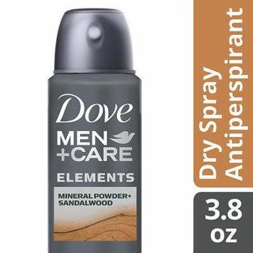 Dove Men+Care Elements Dry Spray Antiperspirant Deodorant Mineral Powder + Sandalwood 3.8 oz.(pack of 6)