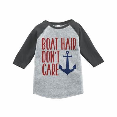 Custom Party Shop Boat Hair Summer Raglan Tee - 3T
