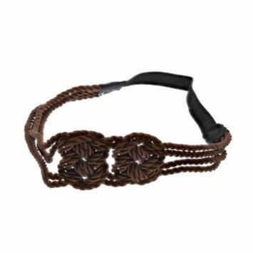 Making Waves Women's Nautical Rope Sailor's Knot Headband, Brown