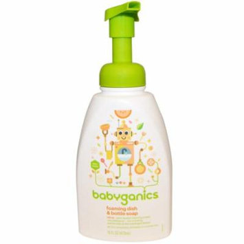 BabyGanics, Foaming Dish & Bottle Soap, Citrus, 16 fl oz(pack of 4)