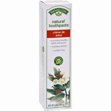 Nature's Gate Natural Toothpaste Creme De Anise - 6 Oz - Pack of 6