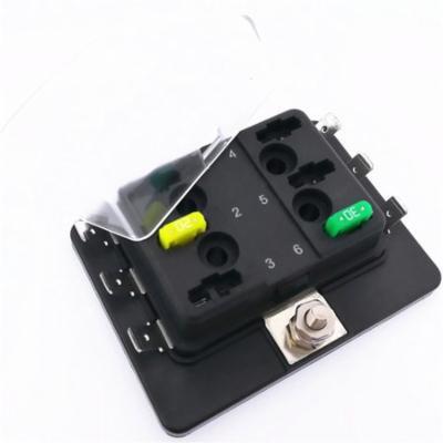 Professional 12V 24V 32V Universal 6 Way Blade Fuse Box Holder for Car Boat On Sale