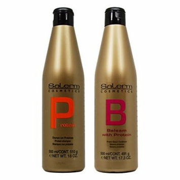 Salerm Protein Shampoo 18oz & Balsam Conditioner 17.3oz Duo