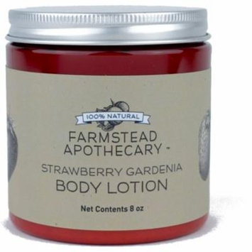 Farmstead Apothecary 100% Natural Body Lotion, Strawberry Gardenia 8 oz