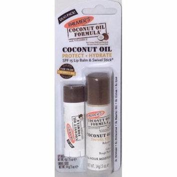 Palmer's Coconut Oil Formula with Vitamin E Coconut Oil SPF 15 Lip Balm/.15 oz & Swivel Stick/ .5 oz