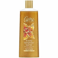 Caress Exfoliating Body Wash, Evenly Gorgeous 18 oz, Pack of 3)