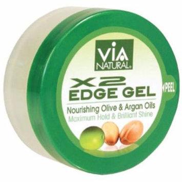 3 Pack - Via Natural X2 Edge Gel, 2 oz