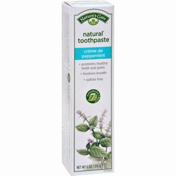 Nature's Gate Natural Toothpaste Creme De Peppermint - 6 Oz - Pack of 6