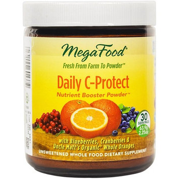 MegaFood - Daily C-Protect Booster Powder, Supports Immune Health and Well-being with Organic Whole Oranges and Vitamin C, Vegan, Gluten-Free, Non-GMO, 30 Servings (2.25 oz) (FFP)