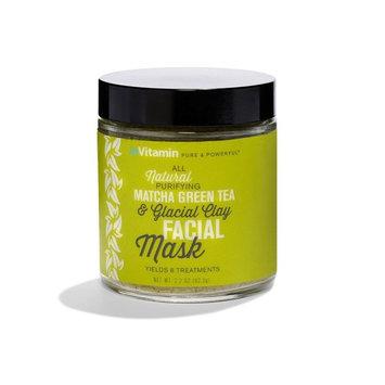 inVitamin Natural Matcha Green Tea & Glacial Clay Facial Mask (2.2 oz)