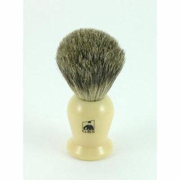 GBS 100% Pure Badger Bristle Shaving Brush Ivory Handle