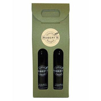 Robert's Infused Olive Oil and Balsamic Vinegar - 2 (375ml) bottle gift pack -White Truffle and Sicilian Lemon