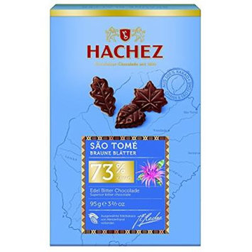 Hachez Brown leaves Sao Tome 73% Cocoa (95g) - Superior Bitter Chocolate
