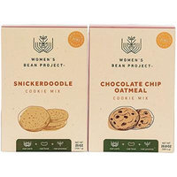 Women's Bean Project Snickerdoodle and Chocolate Chip Oatmeal Cookie Gourmet Food Gift Bundle, 2 Items