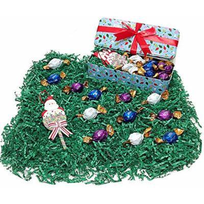 Christmas Light Strings Decorative Holiday Tin Gift Box - Godiva Gourmet Milk, Dark & White Chocolate Truffles & Christmas Tree Ornament