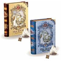 Basilur , Mini Tea Books Vol. 1 & 2 , Pyramid Tea Bags , 100% Pure Ceylon Tea , 5 Luxury Leaf Pyramid Sachets Per Tin , Holiday and Christmas Gifts , Pack of 2