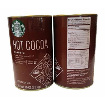 Starbucks Set of 2 Cans (10 oz each) of Hot Cocoa Mix (Classic) 20 oz