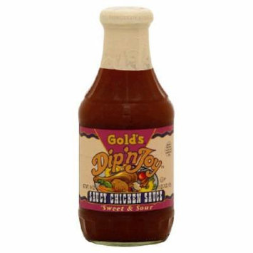 Golds, Sauce Rib Dip & Joy, 19 OZ (Pack of 12)