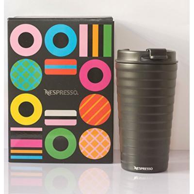 Nespresso Touch Travel Mug , Black Tumbler Stainless Steel , 11 FL OZ / 345 ML , Nespresso Colection ,New in Gift Box