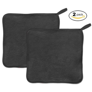 Makeup Remover Cloth (2 pack black) - Chemical Free Cleansing Towel - Wipes Face Clean