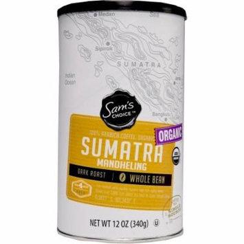 Sam's Choice Organic Sumatra Mandheling Whole Bean Coffee, Dark Roast, 12 oz
