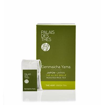Palais des Thés Genmaicha Yama, Green Tea with Roasted Rice, 20 Tea Bags (40g/1.4oz)