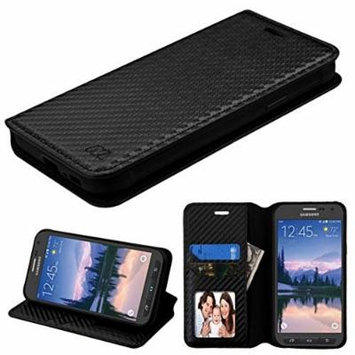 Asmyna Cell Phone Case for Samsung Galaxy S7 Actuve - Black Braided