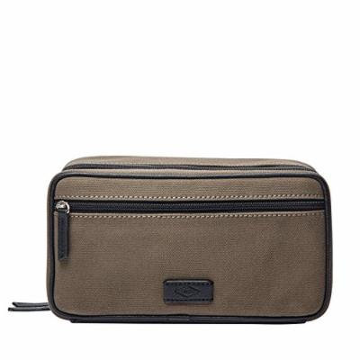 Fossil Double Zip Olive Shave Kit, Olive