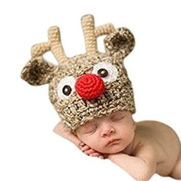 SMARSTAR Infant Unisex Baby Crochet Hat Toddler Cap Photo Props Costume Beanie