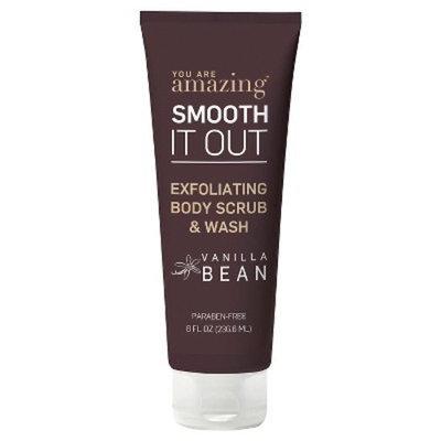 you are AMAZING vanilla bean exfoliating body scrub & wash 8 oz