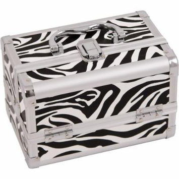 Zebra White, Cosmetic Case With Mirror