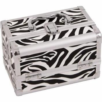 Zebra White, Cosmetic Case With Mirror