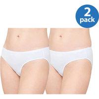 Panty Ladies Cotton Stretch Bikini, 2 Pack