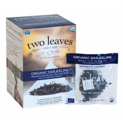 Organic Darjeeling, Classic Black Tea From India, 15 Sachets, 1.33 oz (37.5 g) by Two Leaves and a Bud