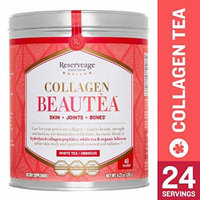 Reserveage - Collagen Beautea, Botanical Support Healthy Skin, Joints, and Bones, White Tea + Hibiscus, 4.23 oz (24 Servings)