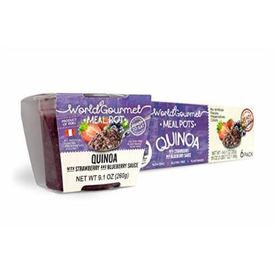 World Gourmet Quinoa Ready To Eat Meal With Strawberry And Blueberry Sauce ( Pack of 6 )