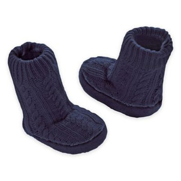 Goldbug™ Cable Knit Slipper Socks in Navy