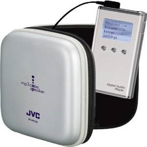 JVC MP3 Case Speaker - Clamshell - Gray