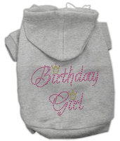 Mirage Pet Products 5411 SMGY Birthday Girl Hoodies Grey S 10