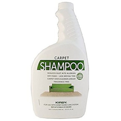 Genuine Kirby Allergen Control Formula Foaming Carpet Shampoo (Unscented) 32oz Kirby Part #252703