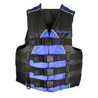 Waterbrands Flowt 40401-2-S/M Extreme Sport Life Vest, Type III PFD, Closed Sides, Blue, Small / Medium