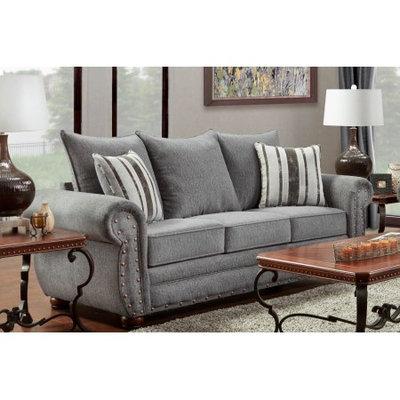 American Furniture Classics Model B6103-EPSS Eden Platinum Stripe Sofa