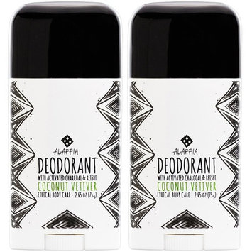 Alaffia - Coconut Reishi - Activated Charcoal Deodorant, Coconut Bergamot, 2 Ounces [Coconut Bergamot]