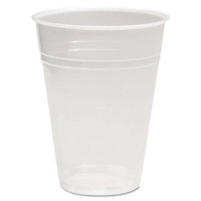Boardwalk BWKTRANSCUP9PK Translucent Plastic Hot & Cold Cups; 9 oz.; 100 Per Pack