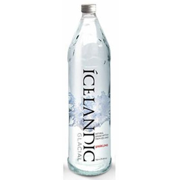 Icelandic Glacial Sparkling Carbonated Natural Spring Fancy Upscale Premium Fine Dining Table Mineral Water Imported From Iceland, 11-oz (330 ml) Case Of 12 Glass Bottles