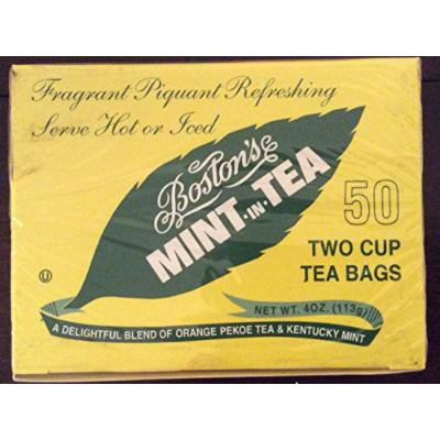 Boston tea mint in tea, 50 count boxes (pack of 4)