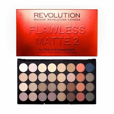 Makeup Revolution Ultra 32 Eyeshadow Palette All Matte Flawless Mattes 2 by Makeup Revolution