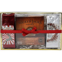 Wicked Jack's Tavern Jamaican Rum Cake with Vanilla and Peppermint Coffees Gift Set (Chocolate)