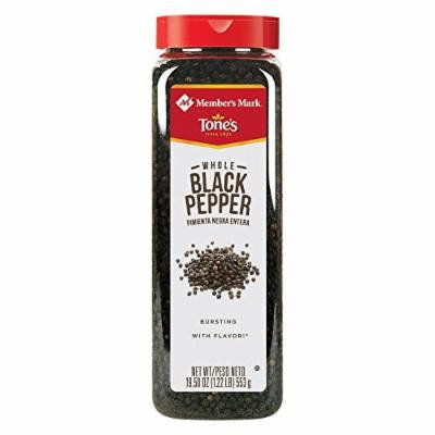 Member's Mark Whole Black Peppercorns by Tone's (19.5 oz.) (pack of 2)